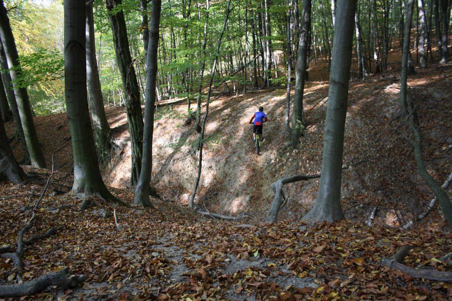 Prejadz žľabom na Lozornianskom traile