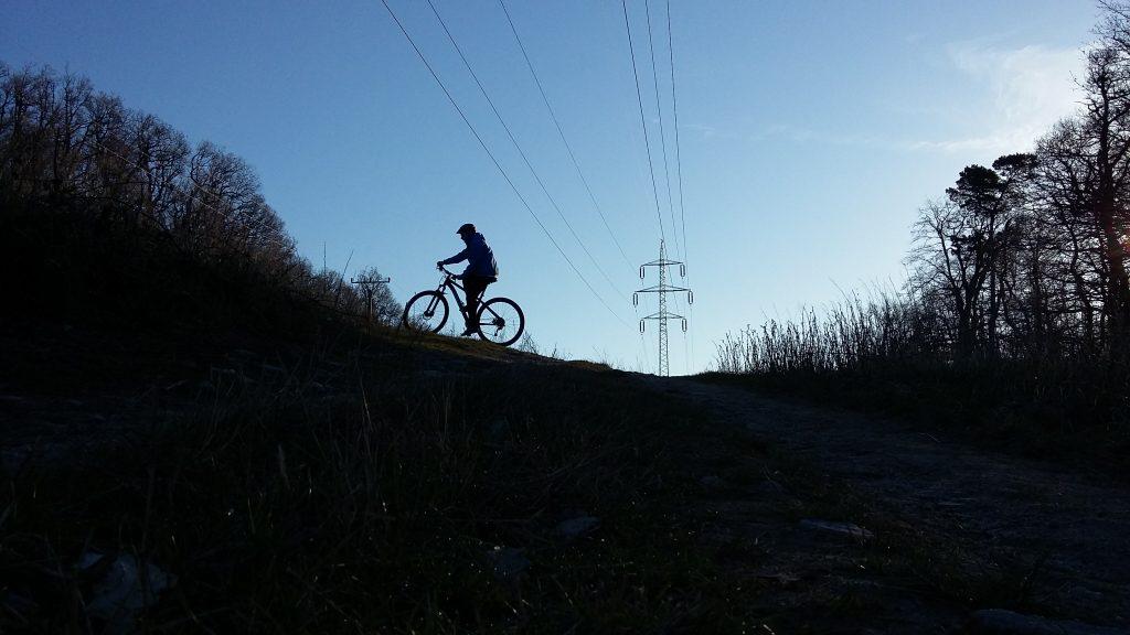 trail v usvite na www.bicyklizmus.sk